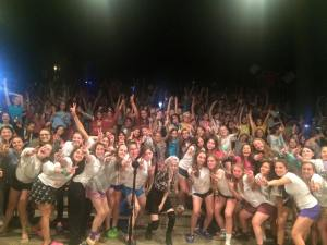 Performing at Camp Timber Tops in PA