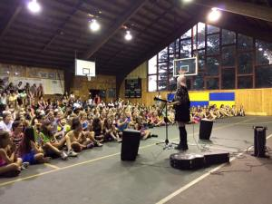 Performing at Pine Forest camp in PA